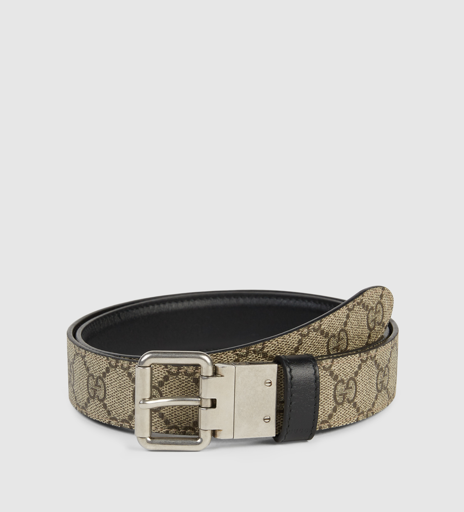 211843f4370 Gucci Reversible Leather And Gg Supreme Belt in Black for Men - Lyst