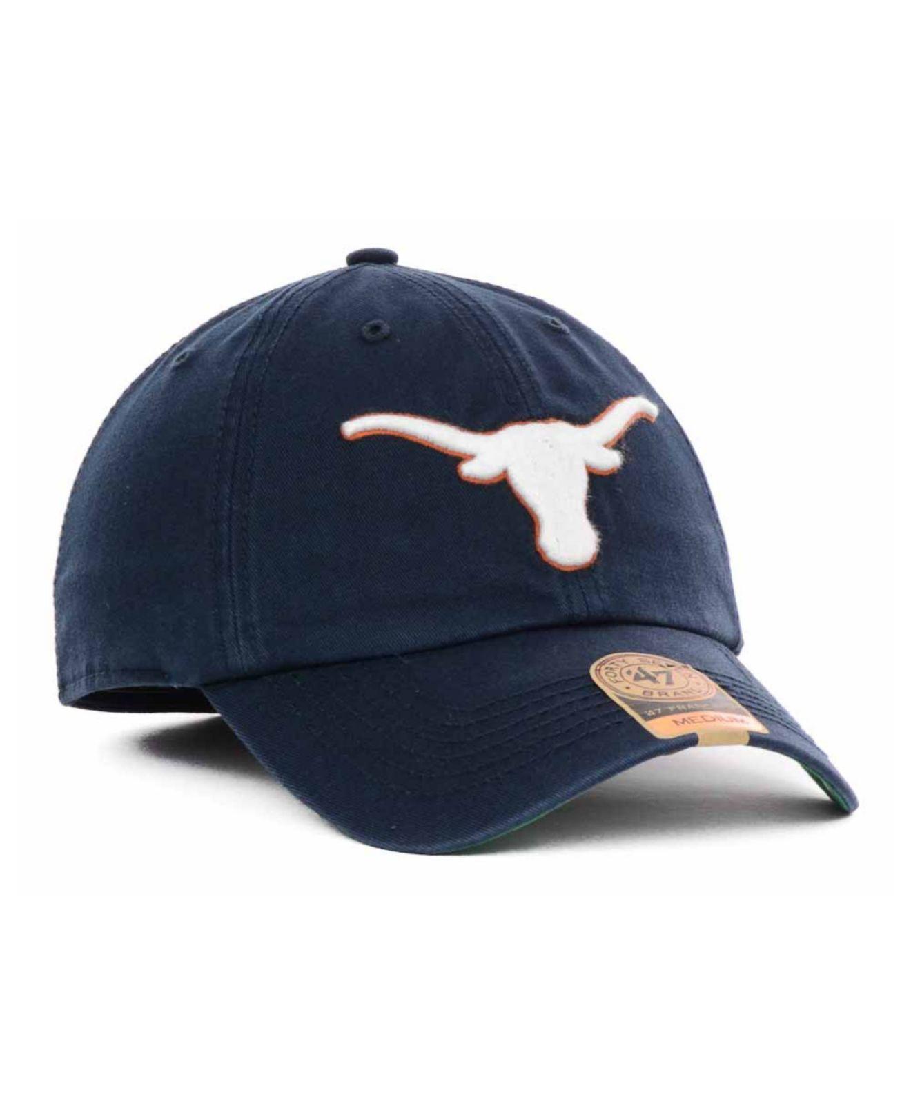 33ede67e3391b ... italy lyst 47 brand texas longhorns navy franchise cap in blue for men  67b96 116fc ...