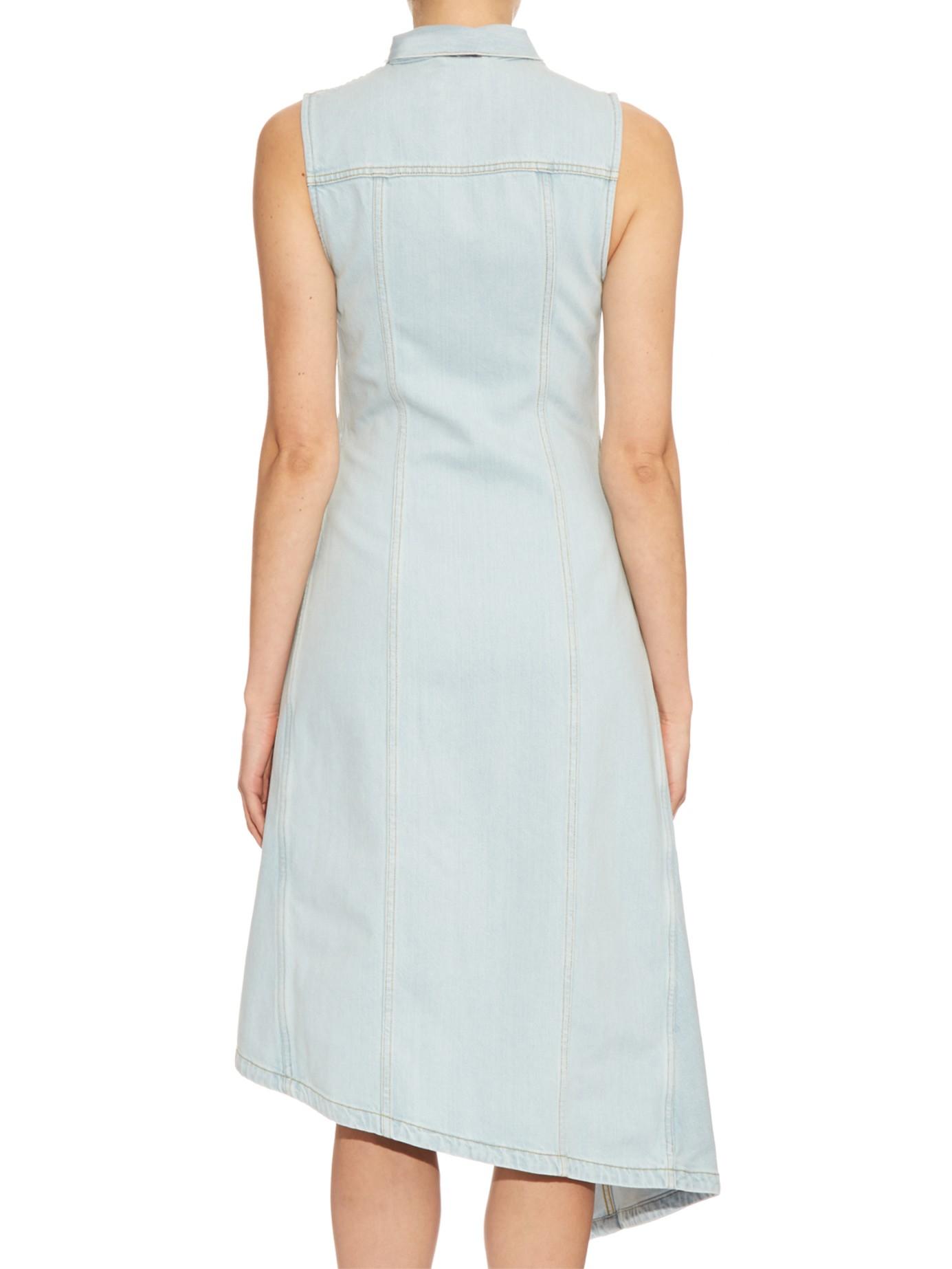 Lyst Acne Studios Carda Denim Dress In Blue