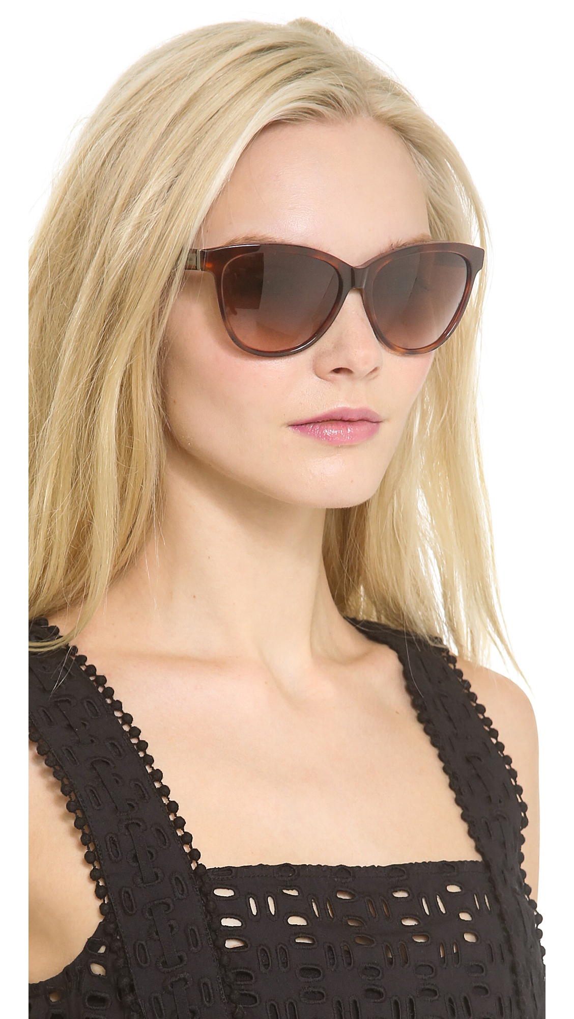 Marc By Marc Jacobs Cat Eye Sunglasses  marc by marc jacobs cat eye sunglasses havana brown grant in