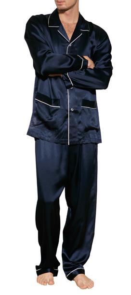 Zimmerli Silk Pajamas In Navy in Blue for Men   Lyst