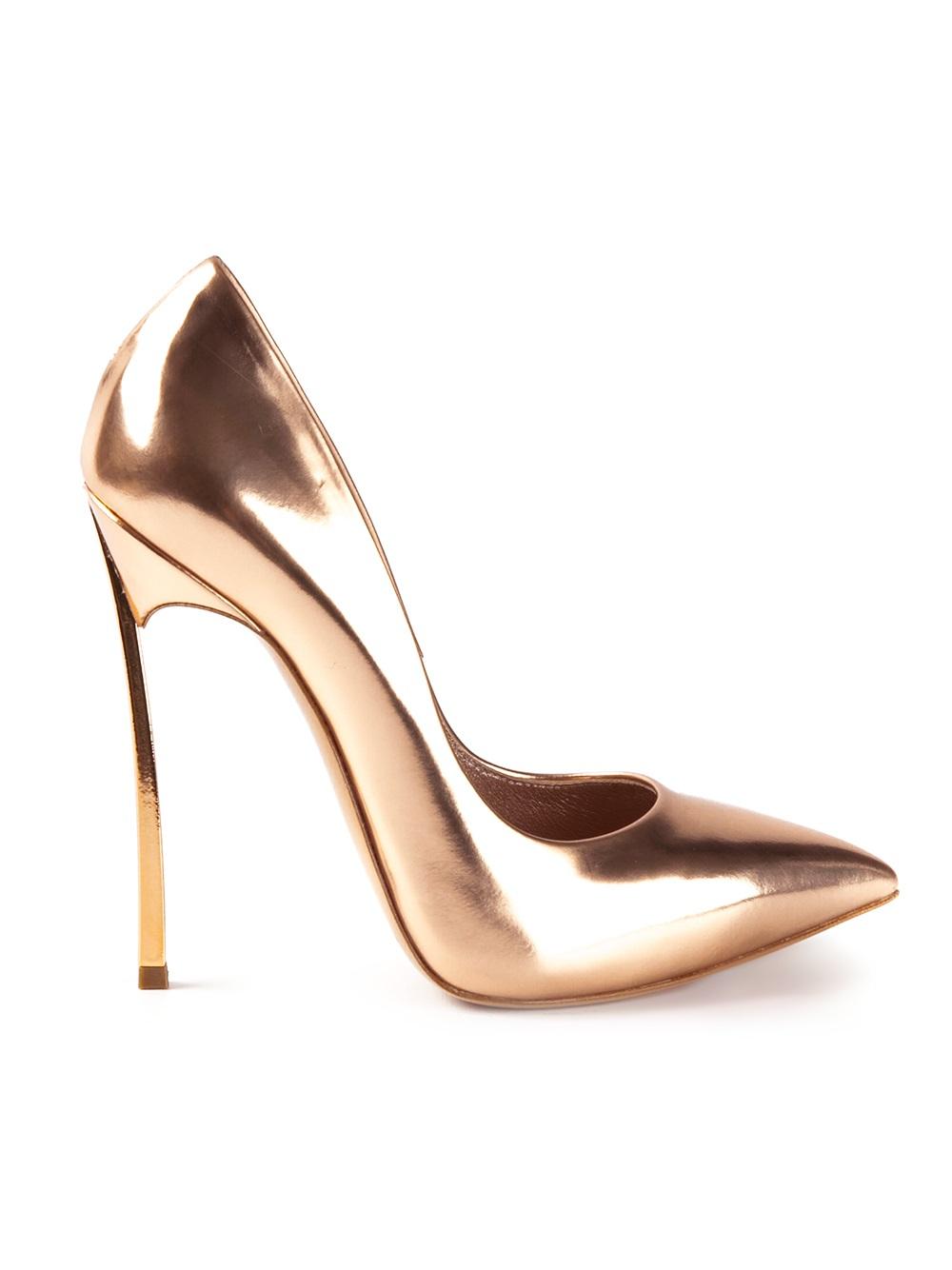 Lyst Casadei High Heel Pumps In Metallic