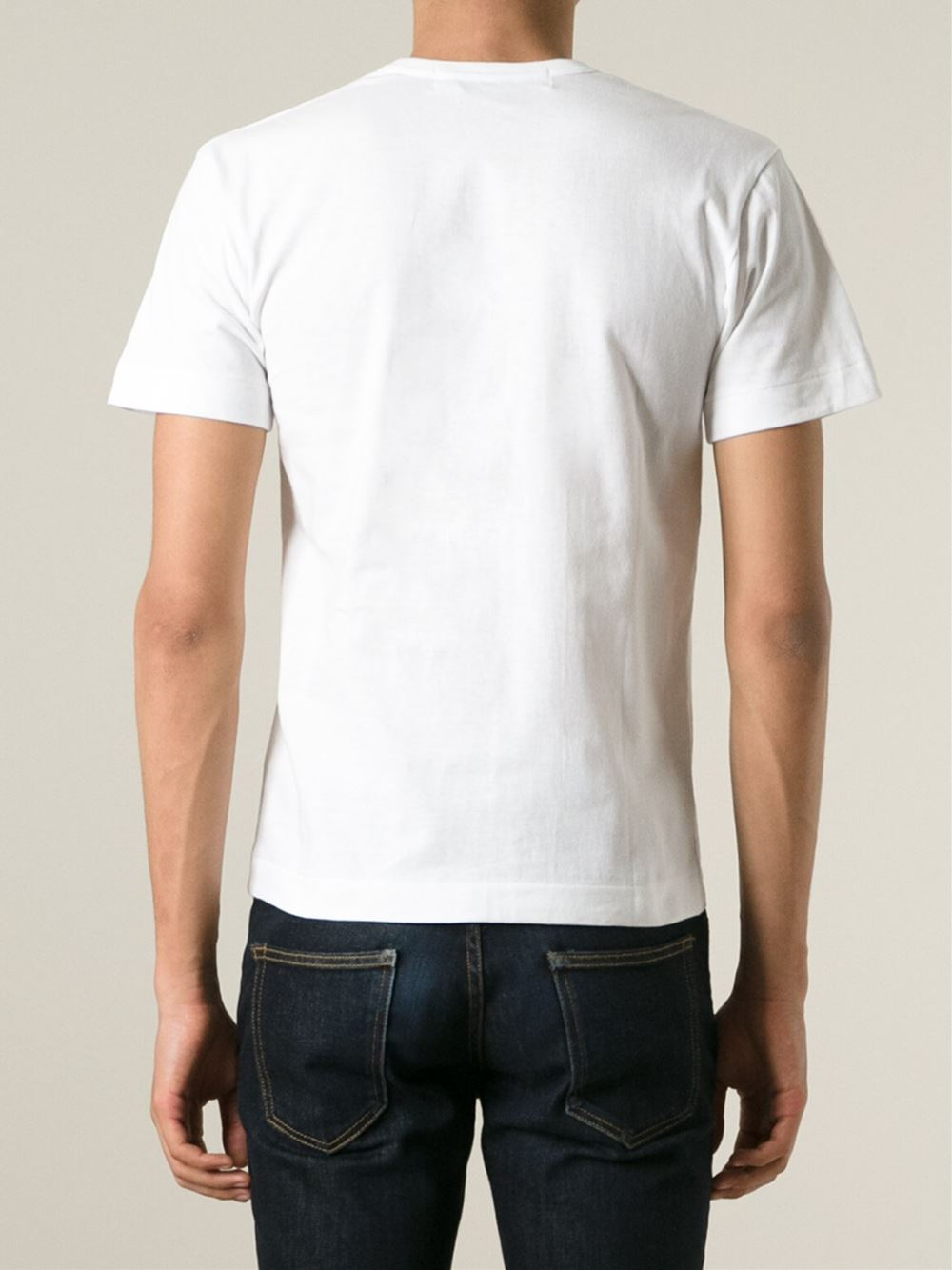 Play Comme Des Gar Ons 39 Play 39 Heart Print T Shirt In White