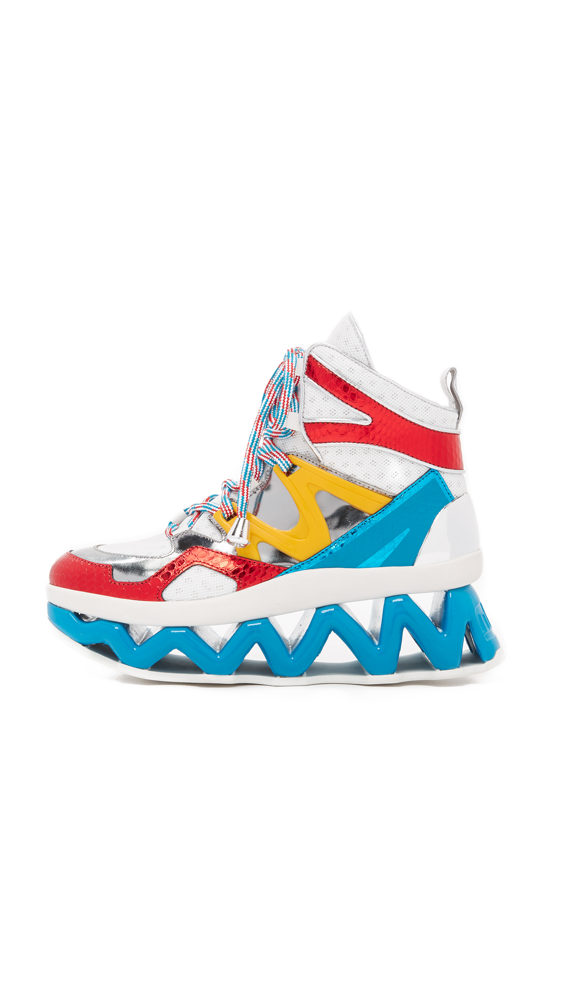 b90fce8cbfd Lyst - Marc By Marc Jacobs Ninja Wave High Top Sneakers in Red