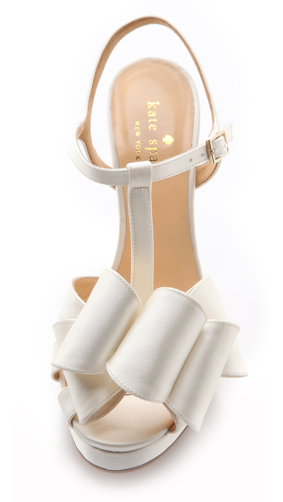 Kate Spade New York Ribbon Sandals Ivory In White Lyst