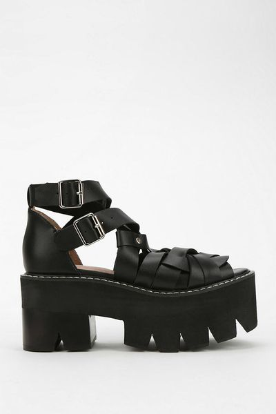 Jeffrey Campbell Cake Treaded Platform Sandal in Black - Lyst
