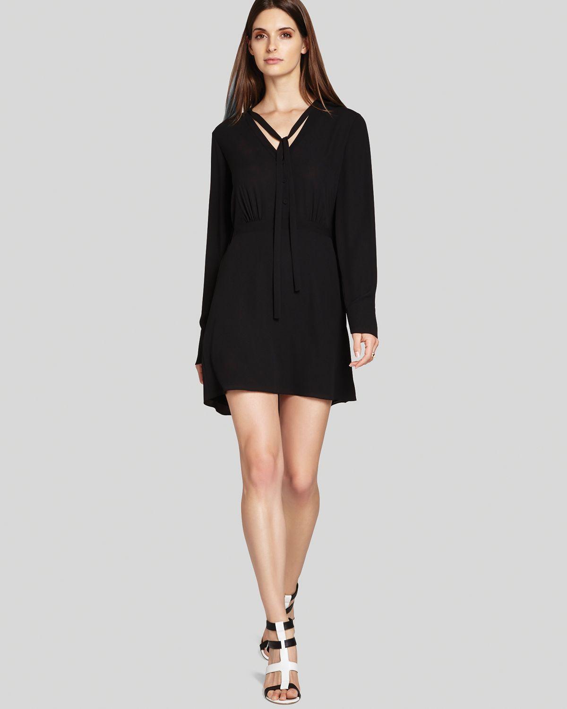 Bcbgmaxazria bcbg max azria dress lani georgette in black lyst