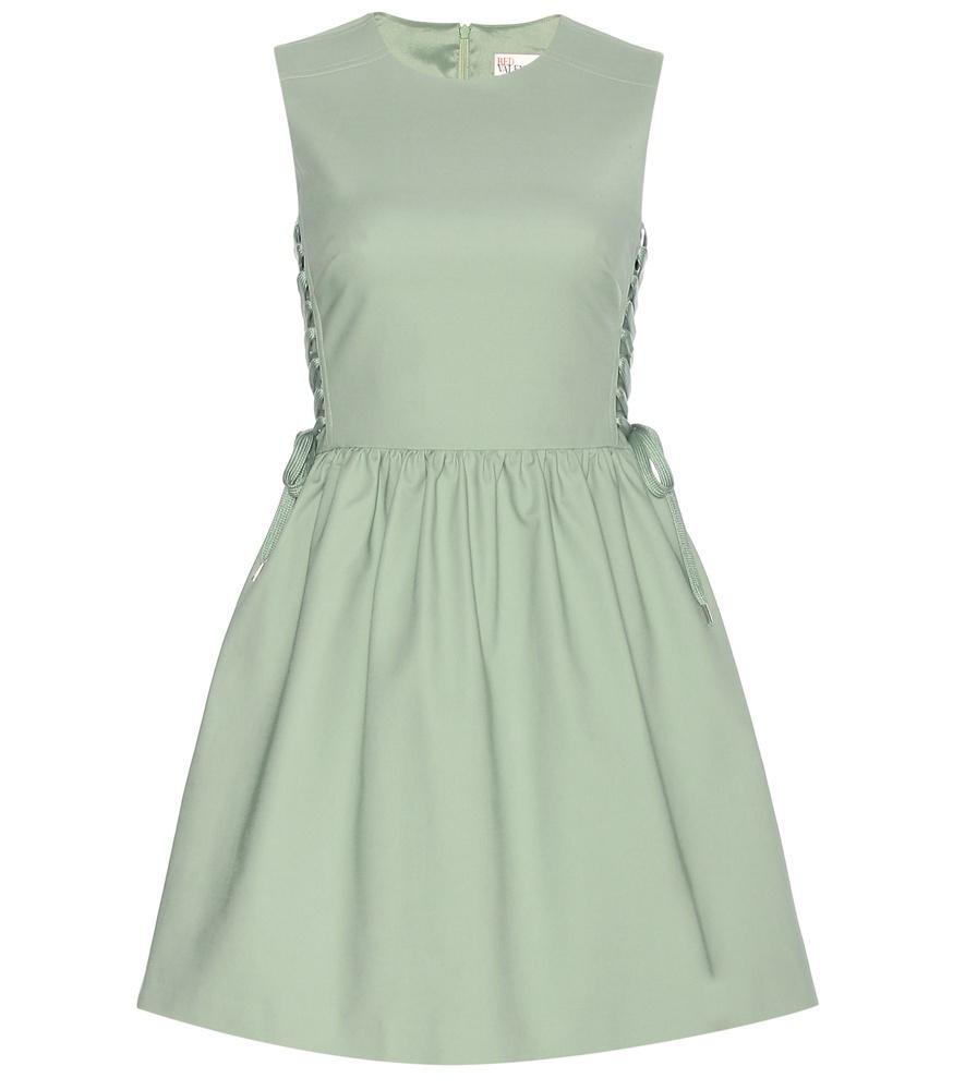 Valentino green lace dress