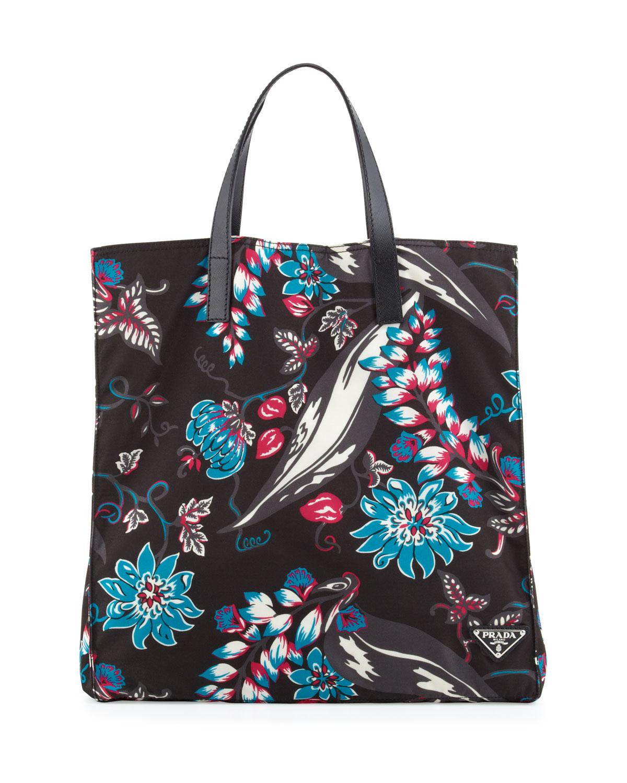 Lyst - Prada Mens Floral Nylon Tote Bag for Men 54a067e6a72de