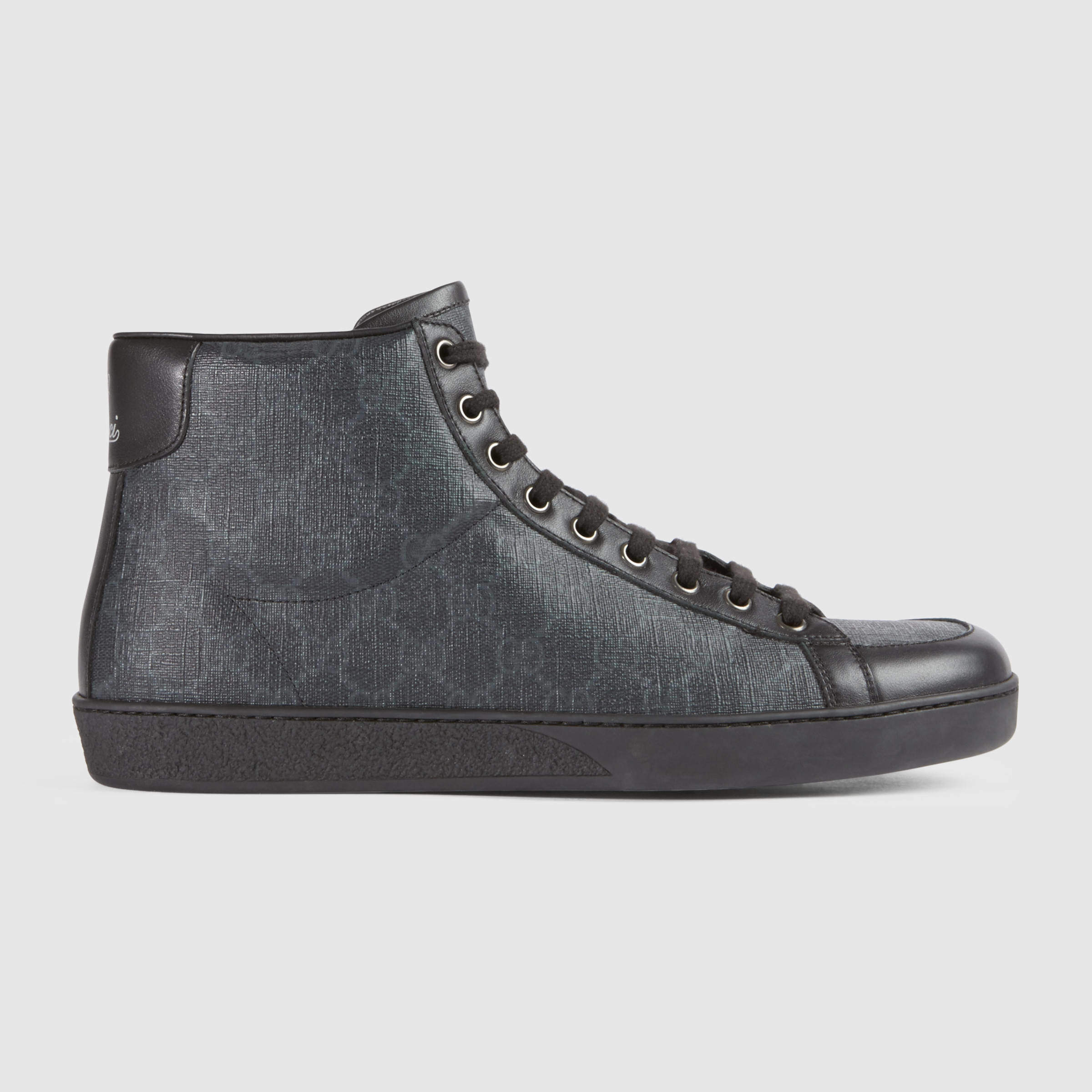 e9404c891 Gucci Gg Supreme High-top Sneaker in Gray for Men - Lyst
