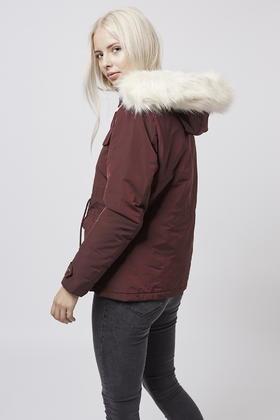 Topshop Petite Padded Jacket in Purple | Lyst