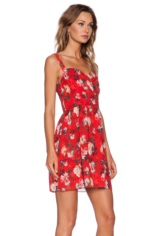 Lyst The Kooples Spring Flower Dress In Red