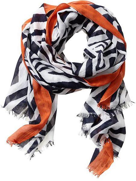 Banana Republic Heritage Zebra Print Scarf in Orange for Men (True ...