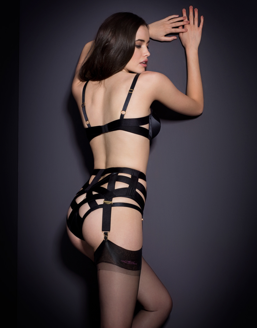 71fb784362 Lyst - Agent Provocateur Whitney Suspender in Black