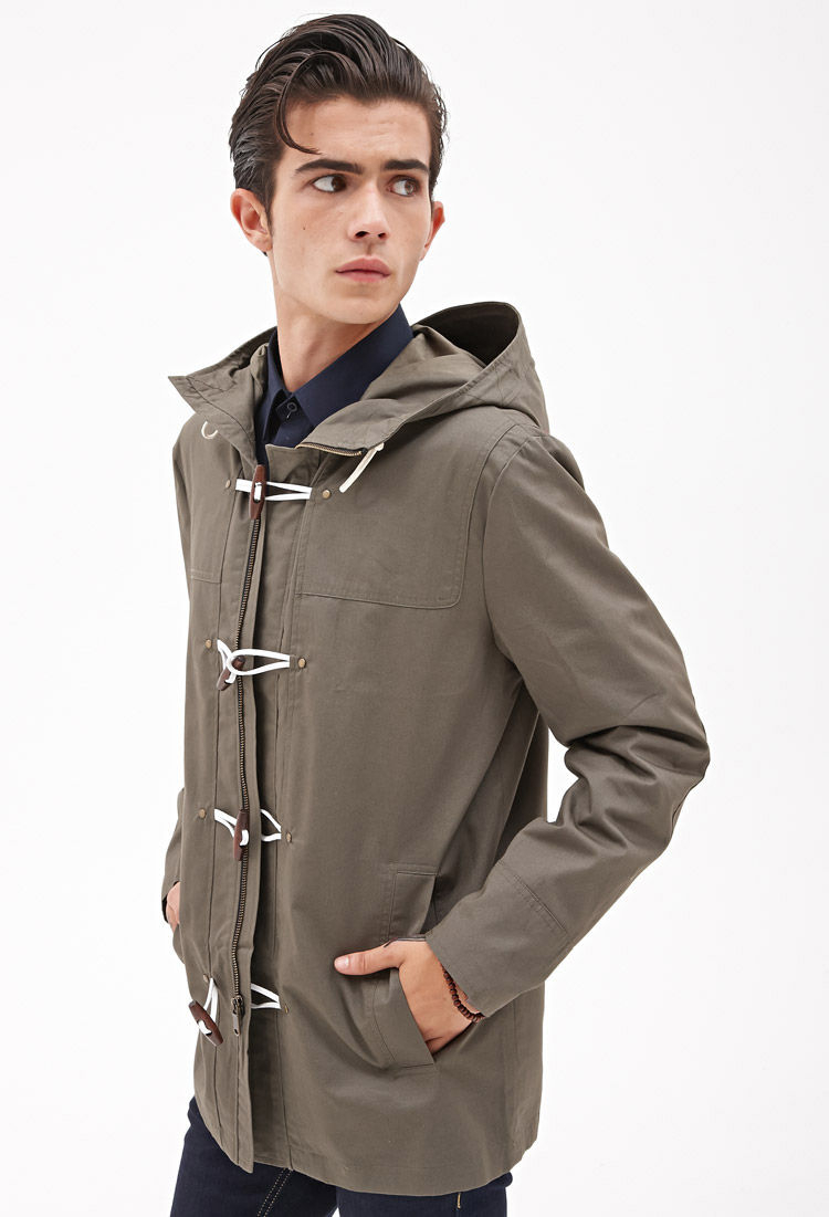 Very best Lyst - Forever 21 Toggle Button Utility Jacket in Natural for Men WW99