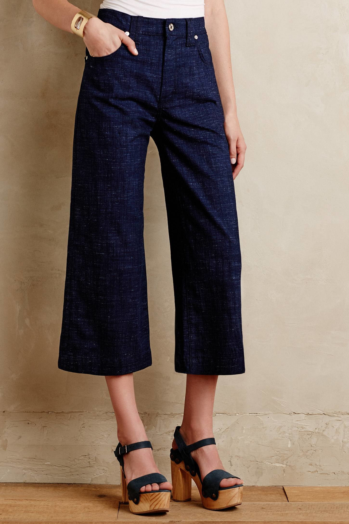 7 for all mankind High-rise Culottes in Blue   Lyst