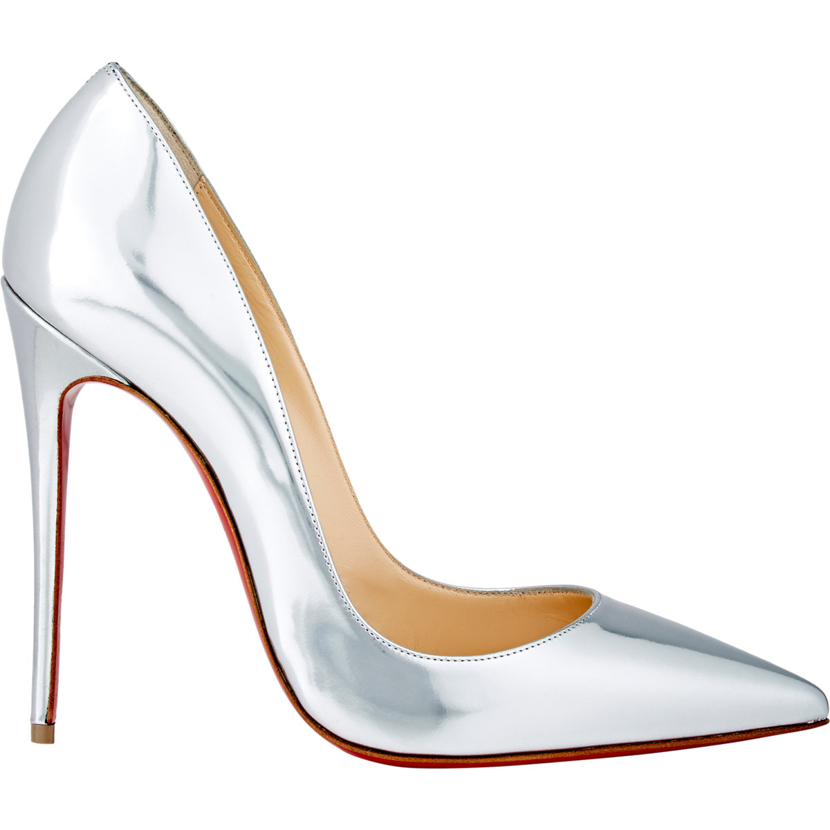christian louboutin so kate metallic leather pumps in
