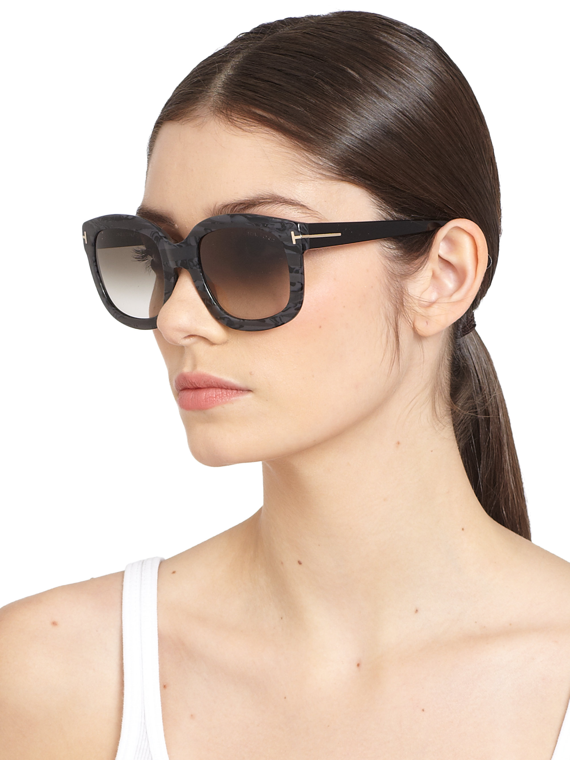 Tom Ford Christophe 53mm Oversized Square Sunglasses In