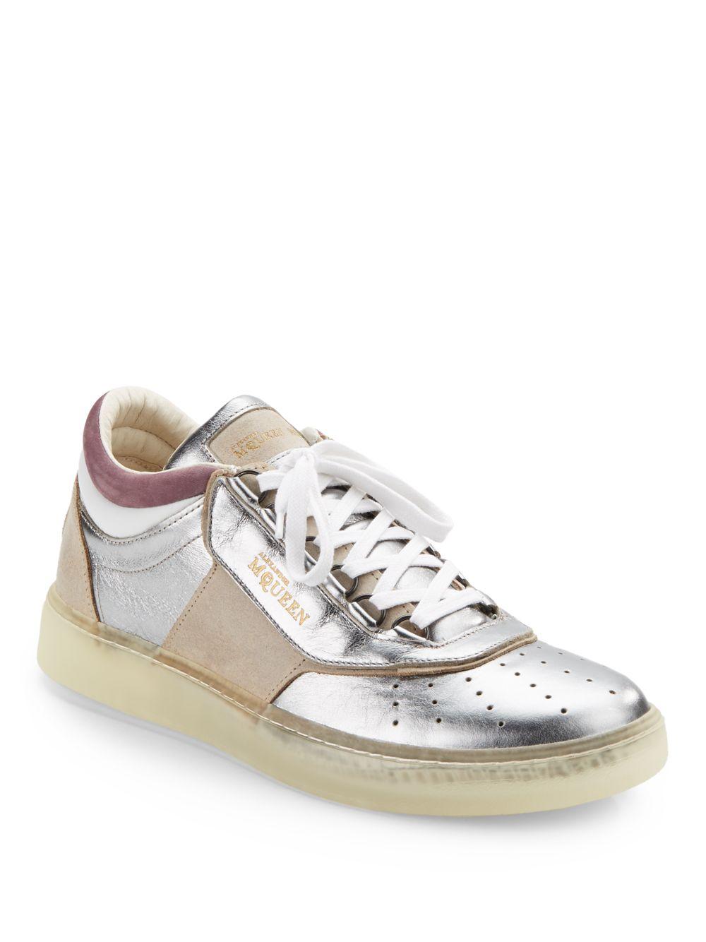 Lyst - Alexander McQueen X Puma Joust Lo Iii Metallic Leather ... 9c6738ab3