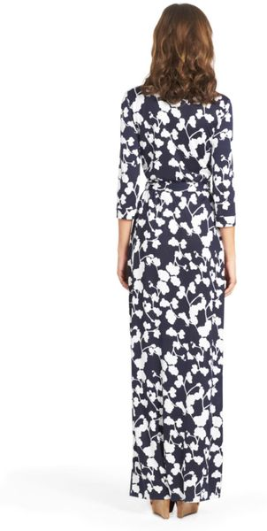 Dvf Abigail Wrap Maxi Dress Jersey Maxi Wrap Dress in