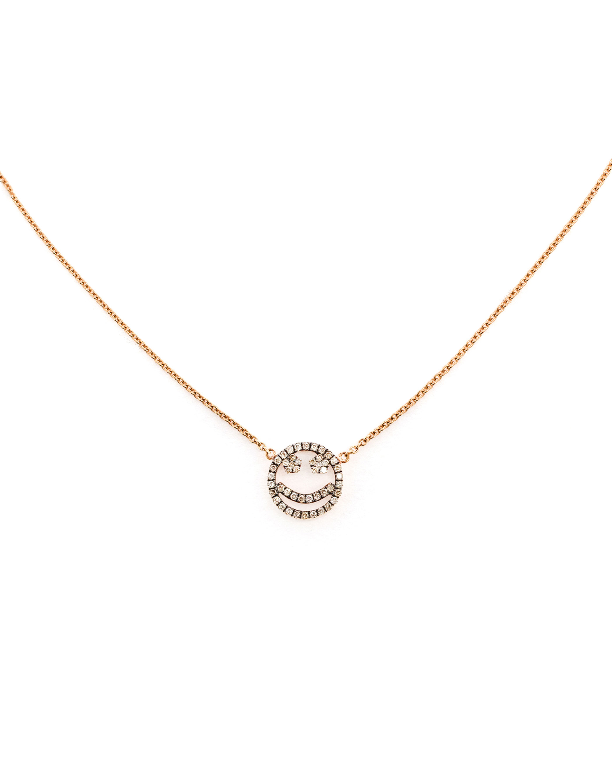 18k rose gold large Eternity diamond necklace Rosa De La Cruz bMuPFk7Ev