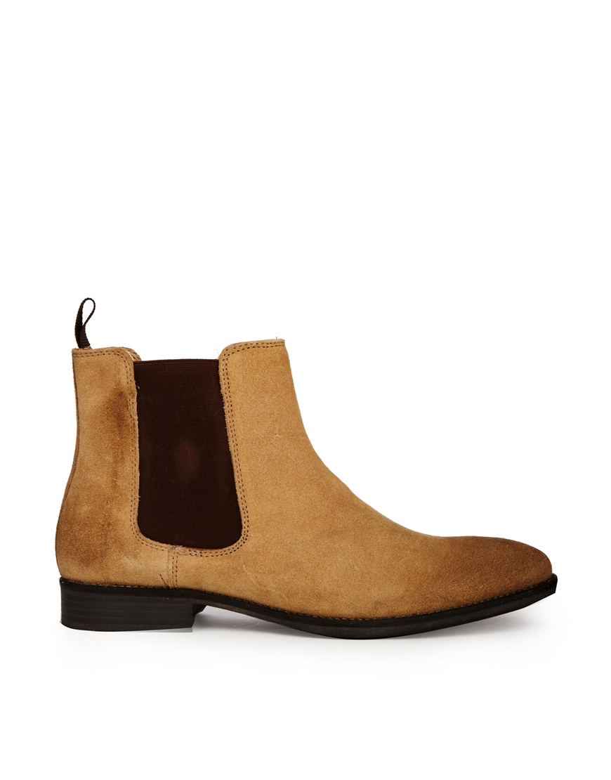 asos chelsea boots in suede in for lyst
