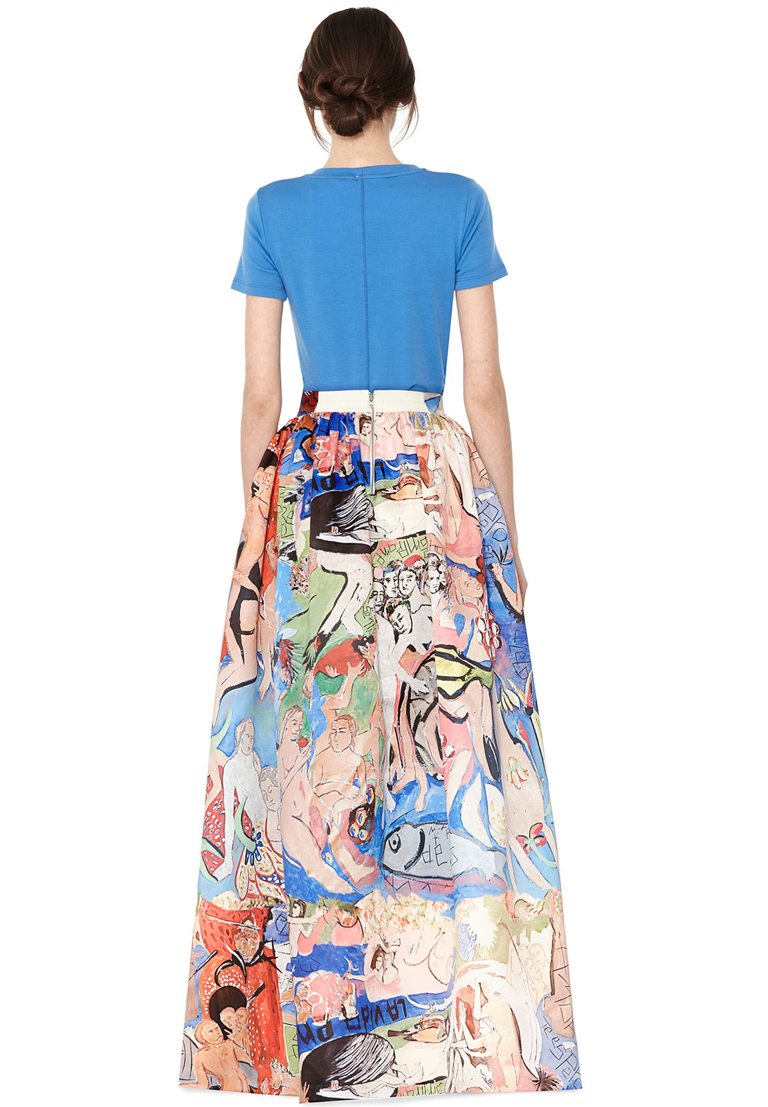Lyst - Alice + Olivia Tina Long Ball Gown Skirt in Natural