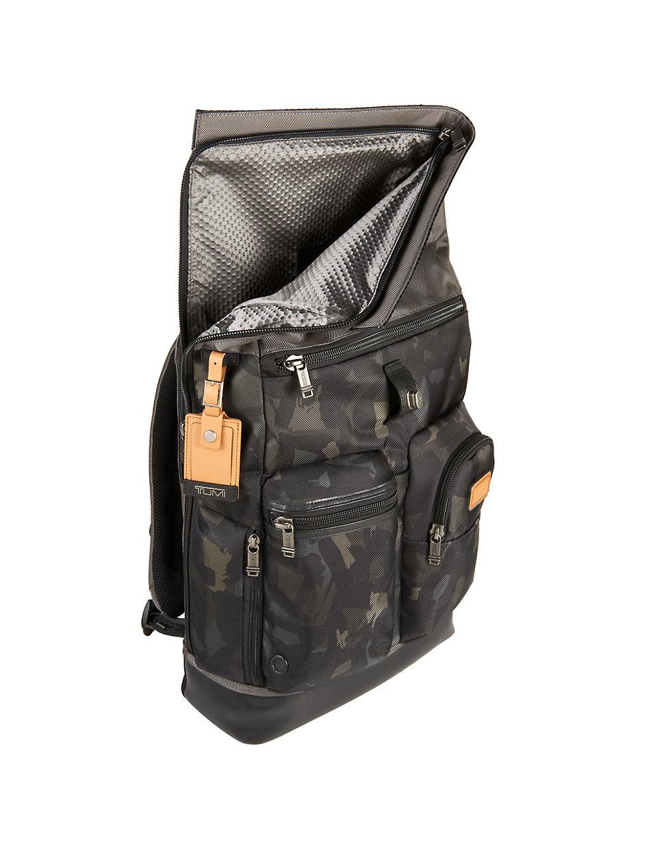 Tumi Alpha Bravo Luke Roll Top Backpack In Green For Men