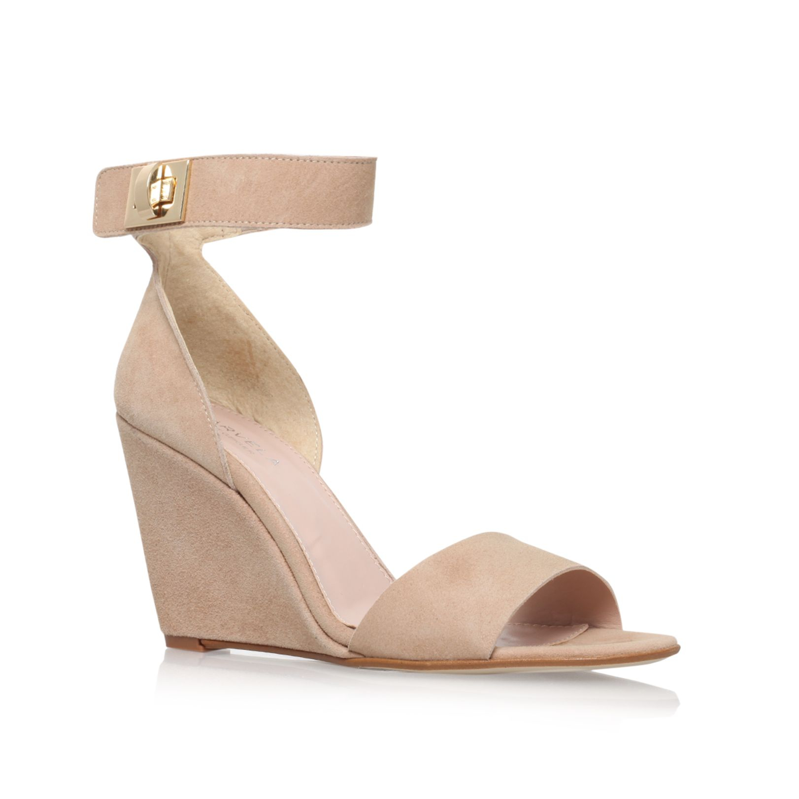 carvela kurt geiger kulprit high heel wedge sandals in