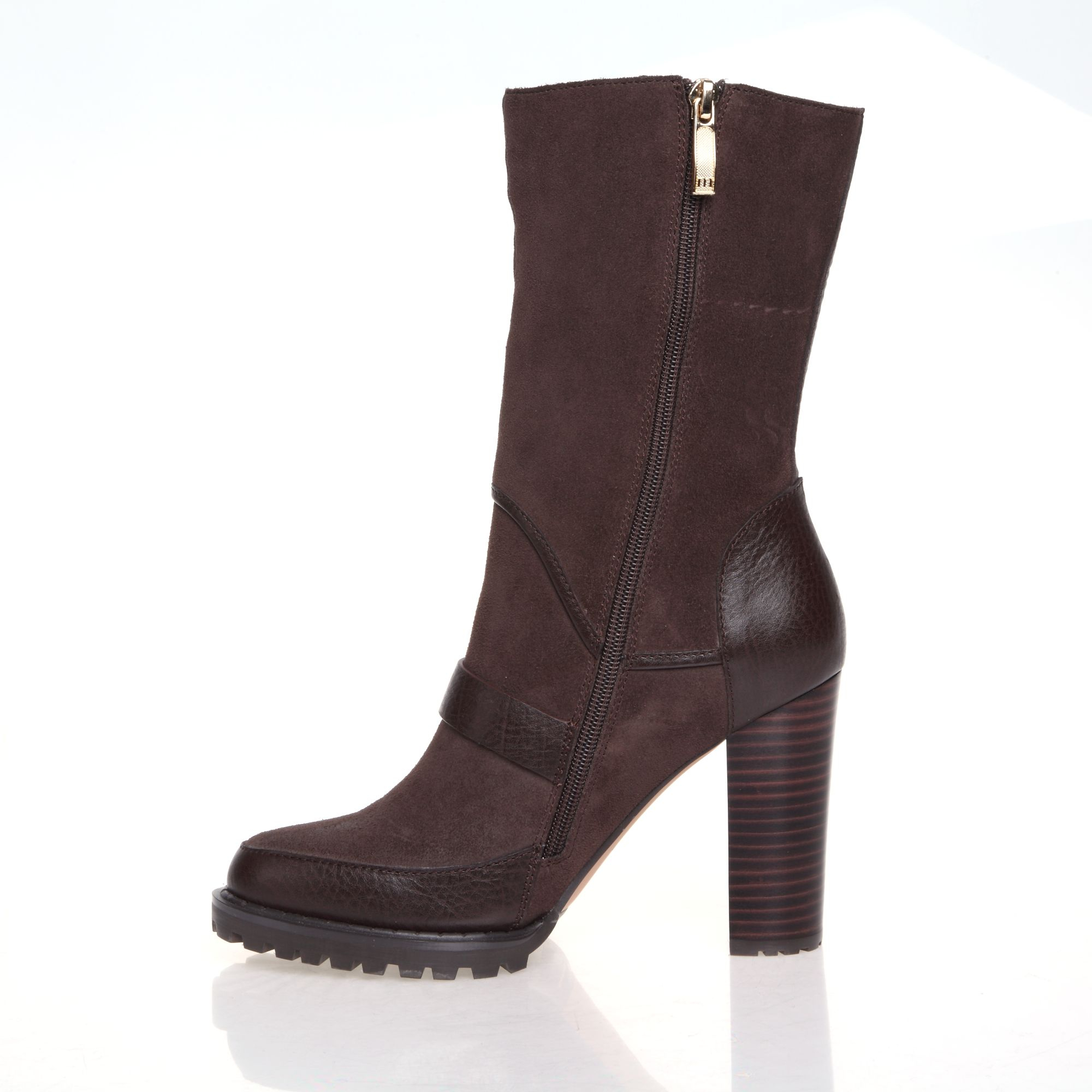 f7f55cef4 Mascotte Buckle Detail Cleated Sole Ankle Boot in Brown - Lyst