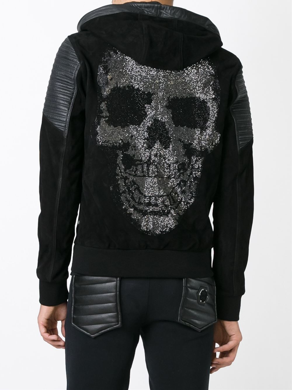 philipp plein 39 diamond skull 39 jacket in black for men lyst. Black Bedroom Furniture Sets. Home Design Ideas