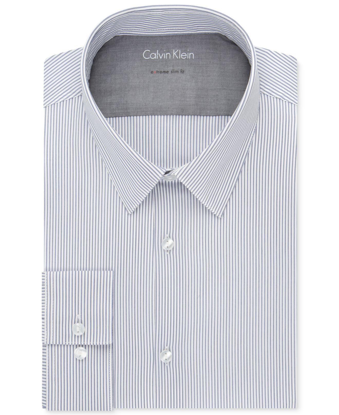 Lyst Calvin Klein X Extra Slim Fit Midnight Stripe Dress Shirt In