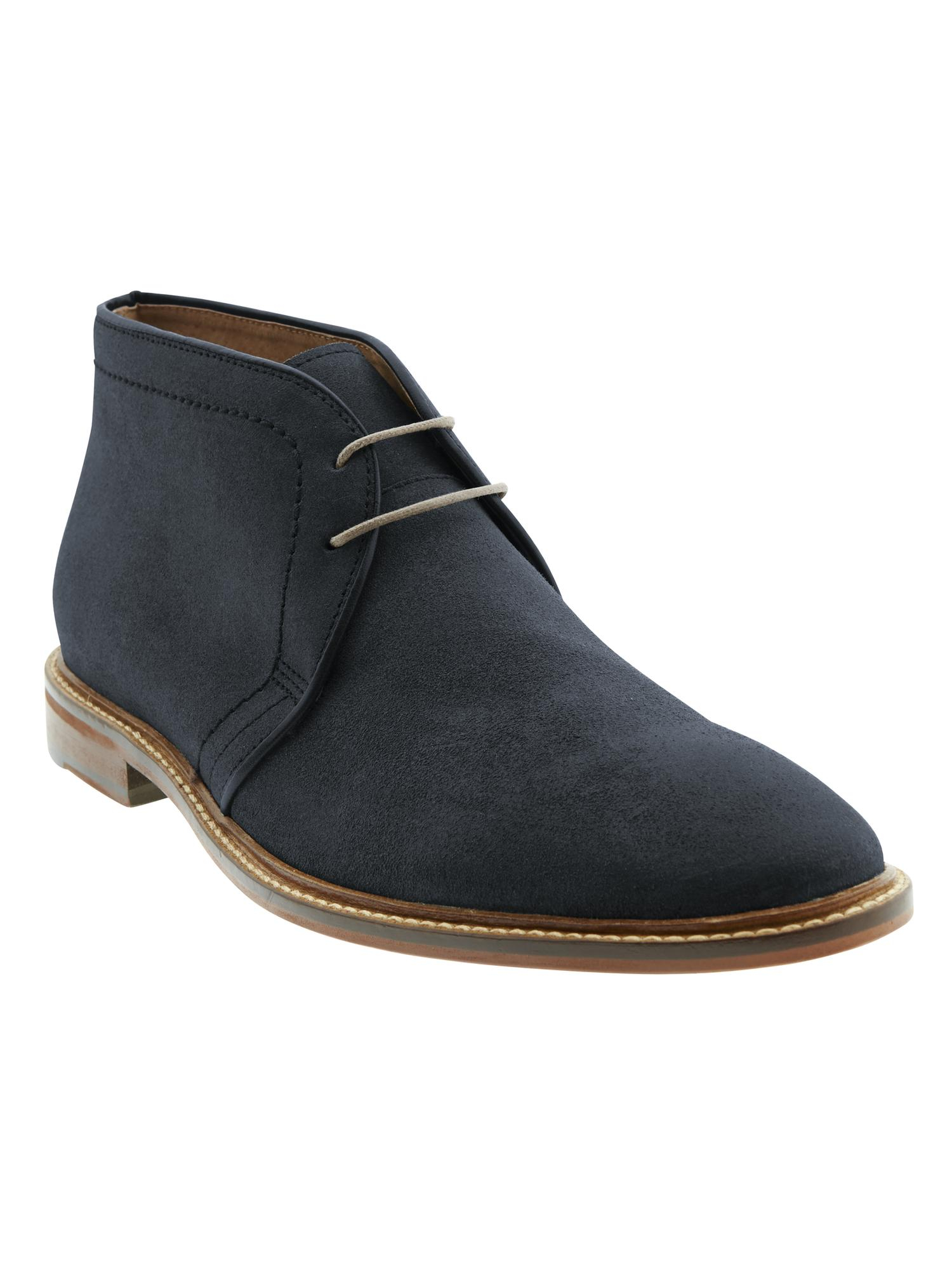 banana republic jake chukka boot in blue for navy lyst