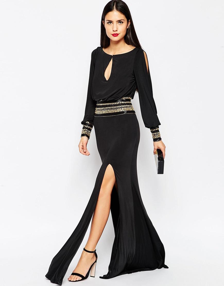 3d9d4444fa5 Unique Tail Dresses Photo Dress Wallpaper Hd A. La Femme Unique Black And Silver  Sequin Evening Dress 16869