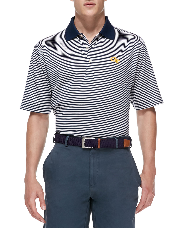 Peter millar georgia tech gameday college shirt polo in for Peter millar polo shirts