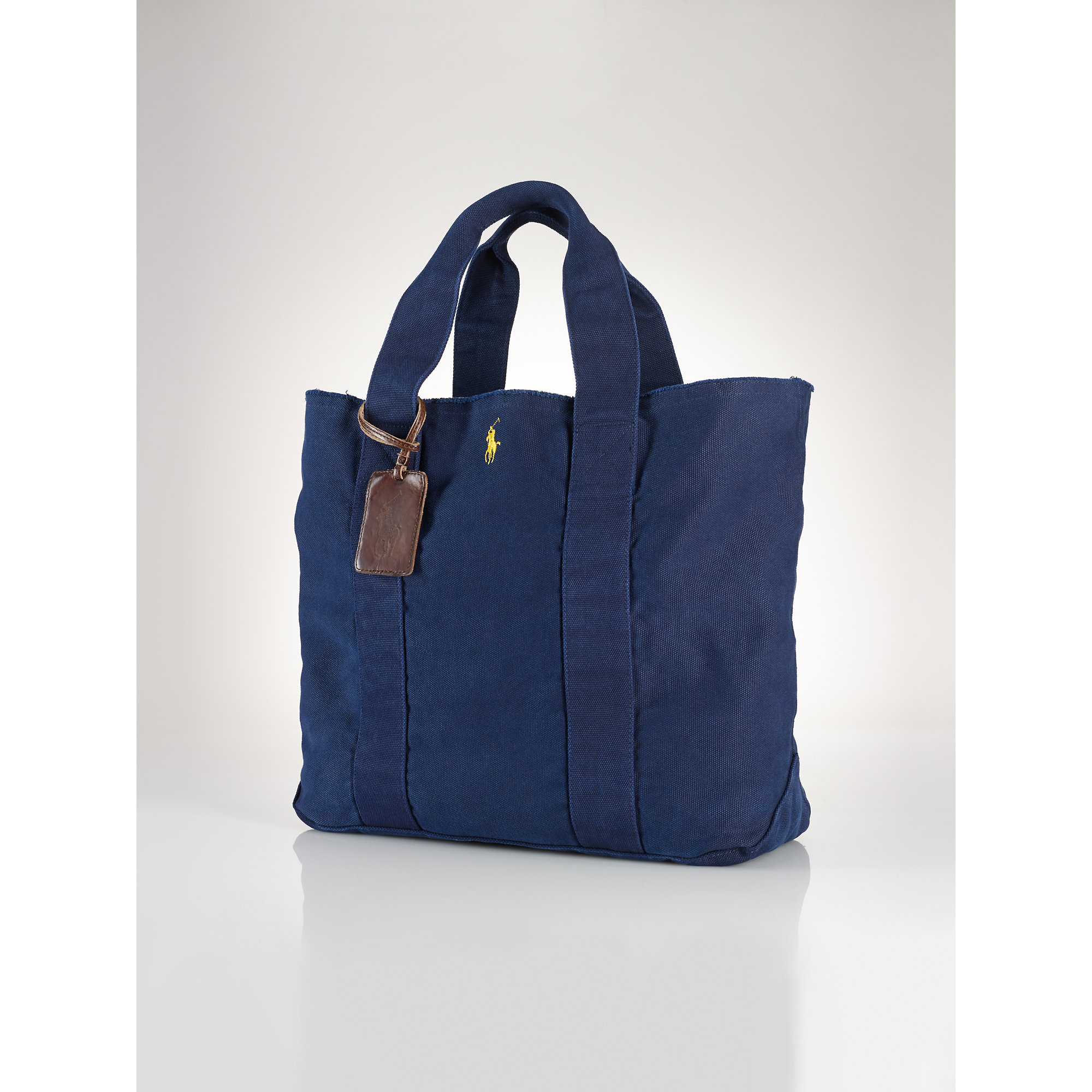 Lyst - Polo Ralph Lauren Pony Canvas Tote in Blue 3ef2c75de4eaf