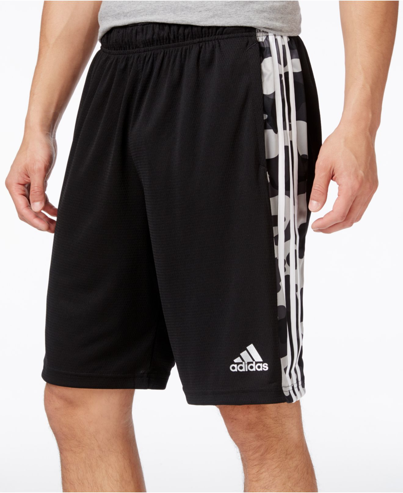 Adidas originals Men's Camo Climalite® Training Shorts in Black ...