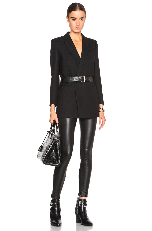 7ec42bb0a27d Lyst - Saint Laurent Belted Blazer in Black