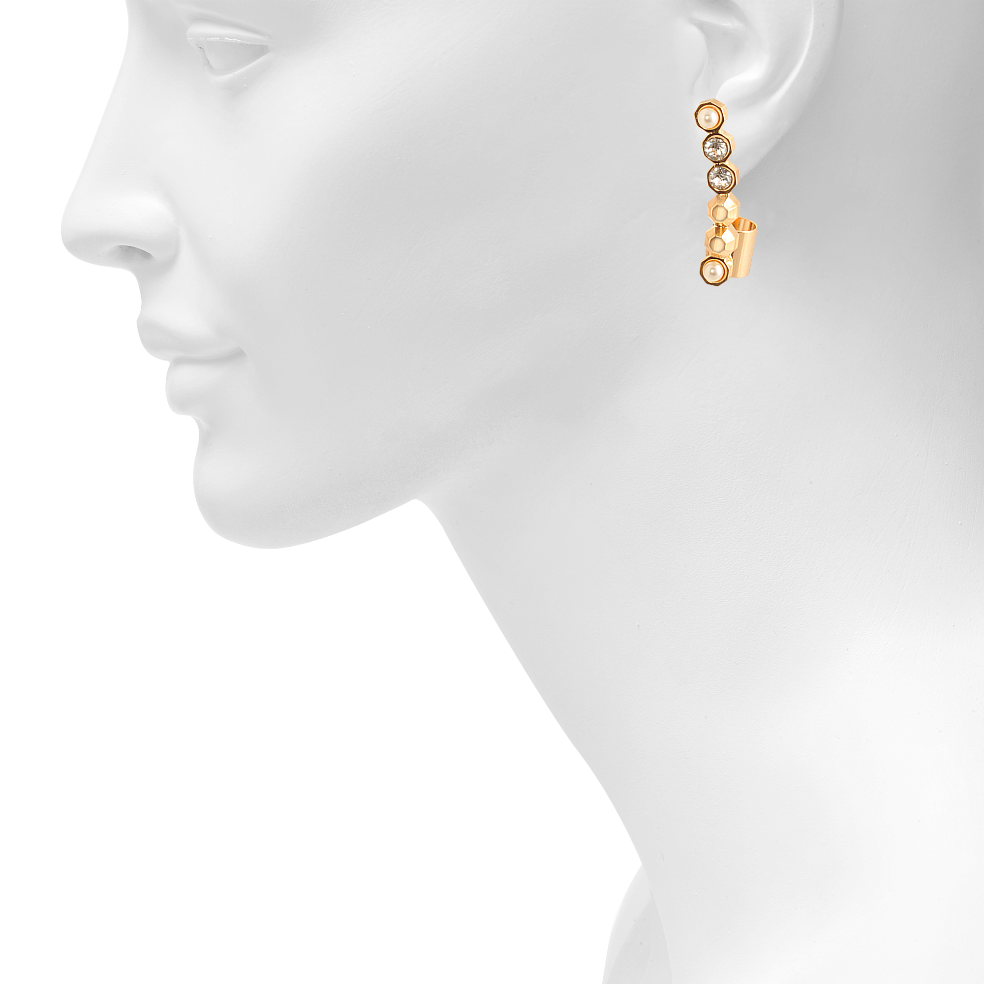 at italian gold earrings master v id with jewelry dangle asymmetric hoops