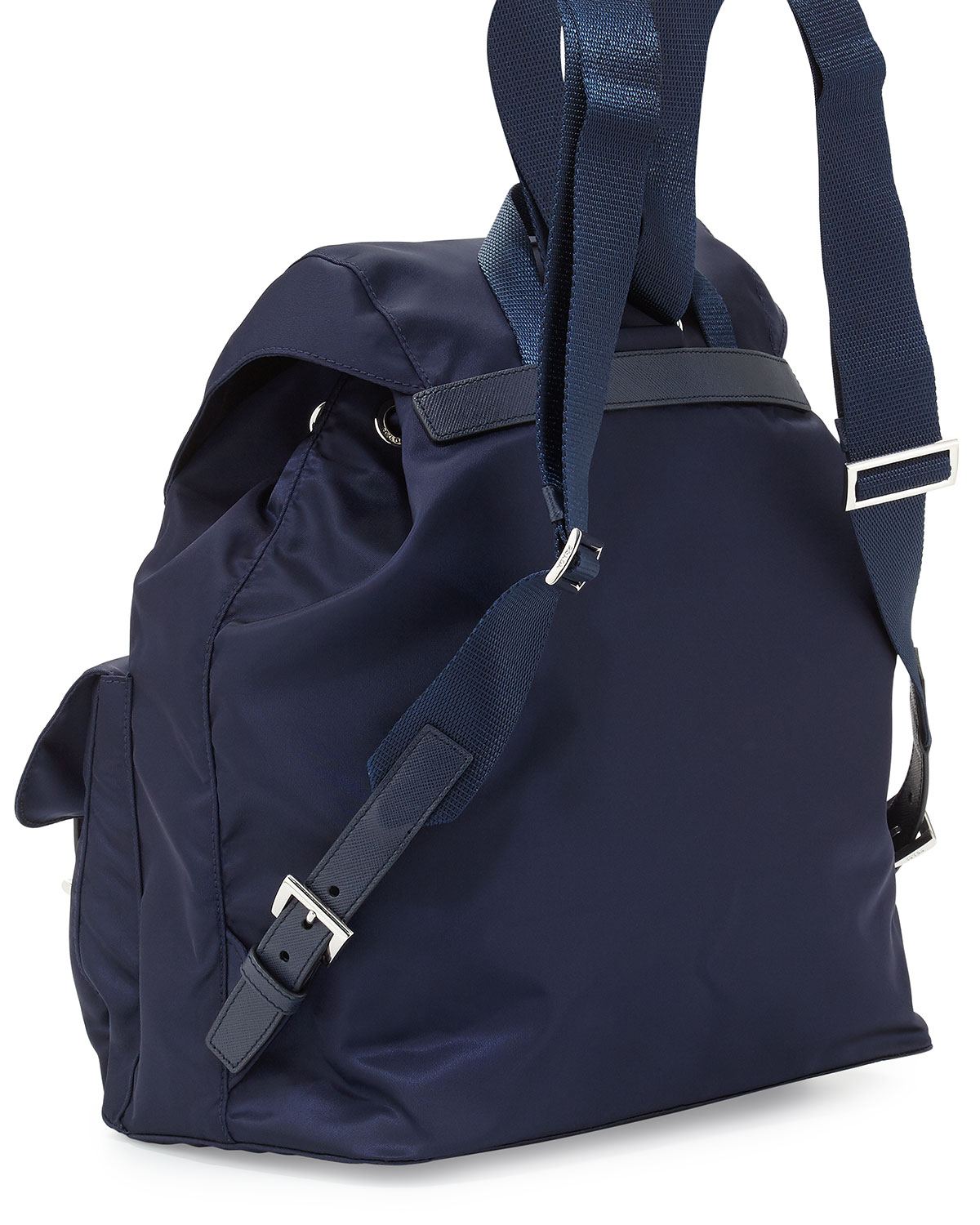 a90991819689d1 ... coupon code for lyst prada vela medium backpack in blue 76ab1 de572