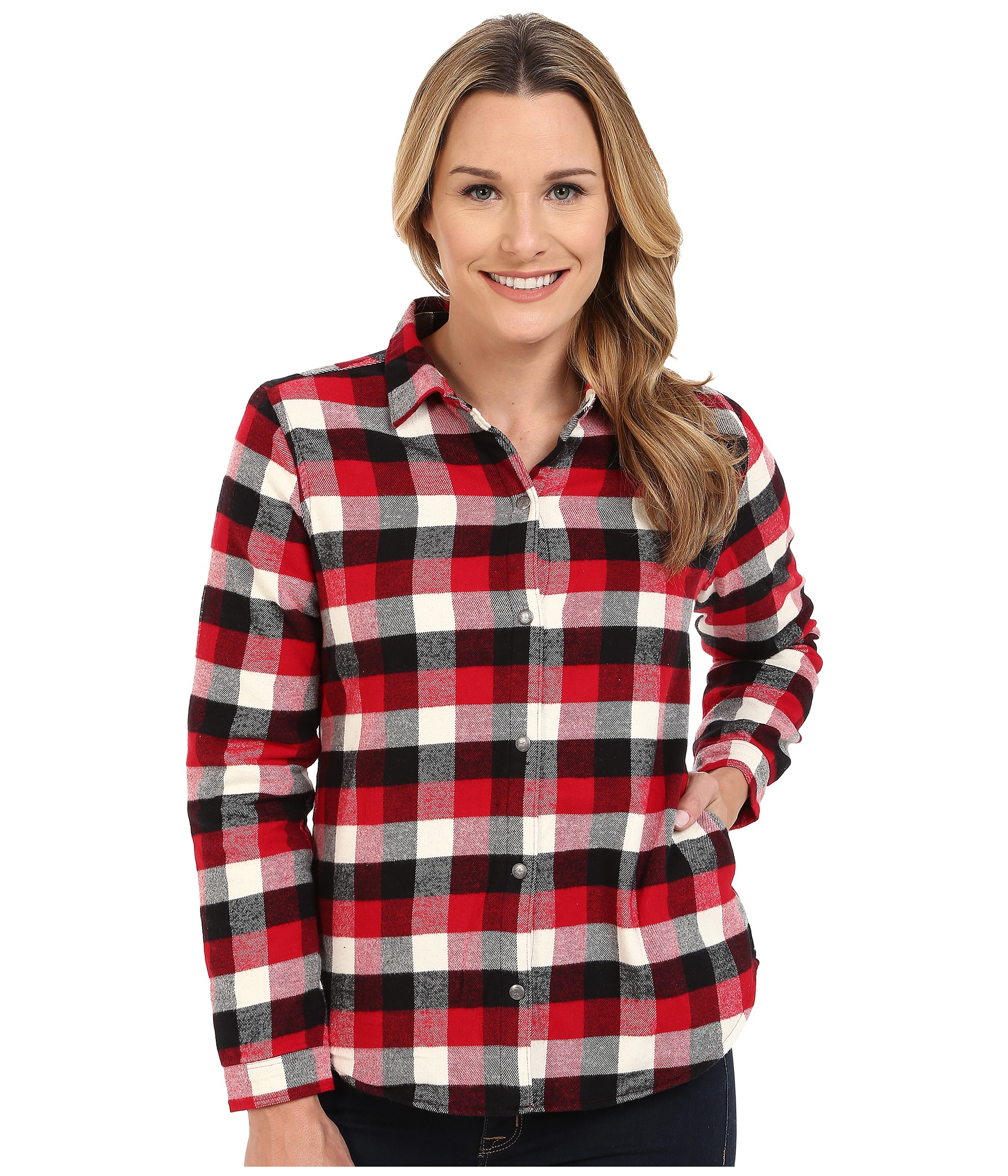 woolrich pemberton fleece lined flannel shirt jacket lyst. Black Bedroom Furniture Sets. Home Design Ideas