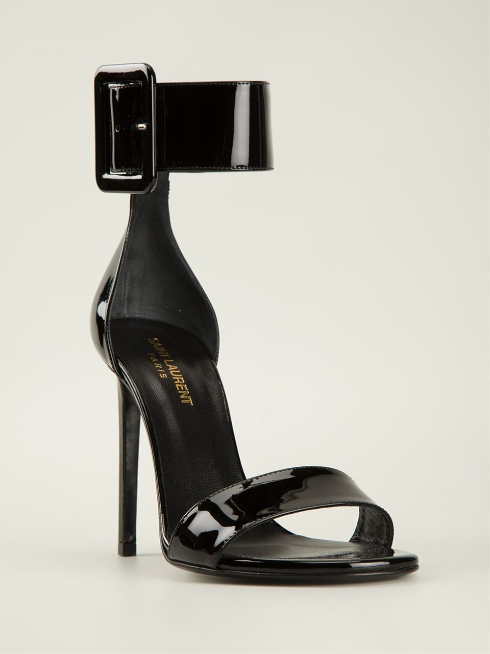 laurent ankle cuff sandals in black lyst