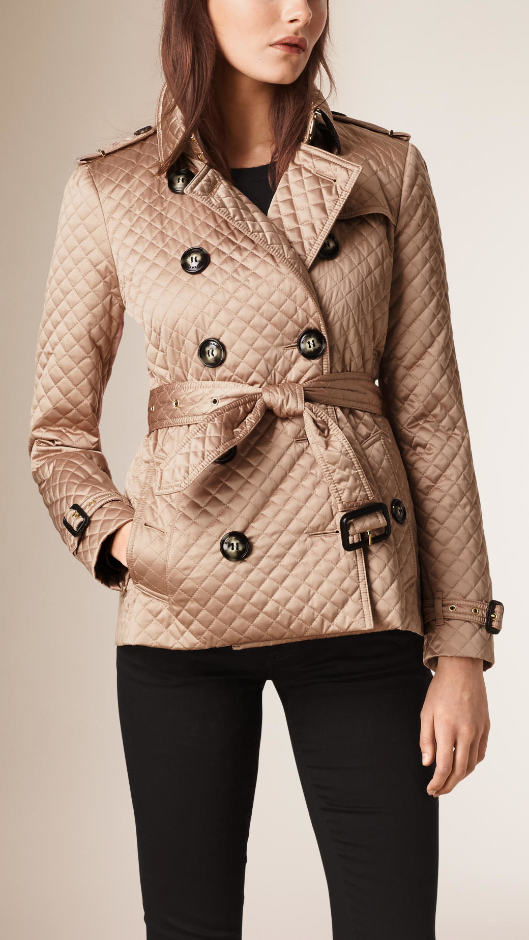 jacket quilted diamond kingdom women gallery united quilt image burberry in canvas