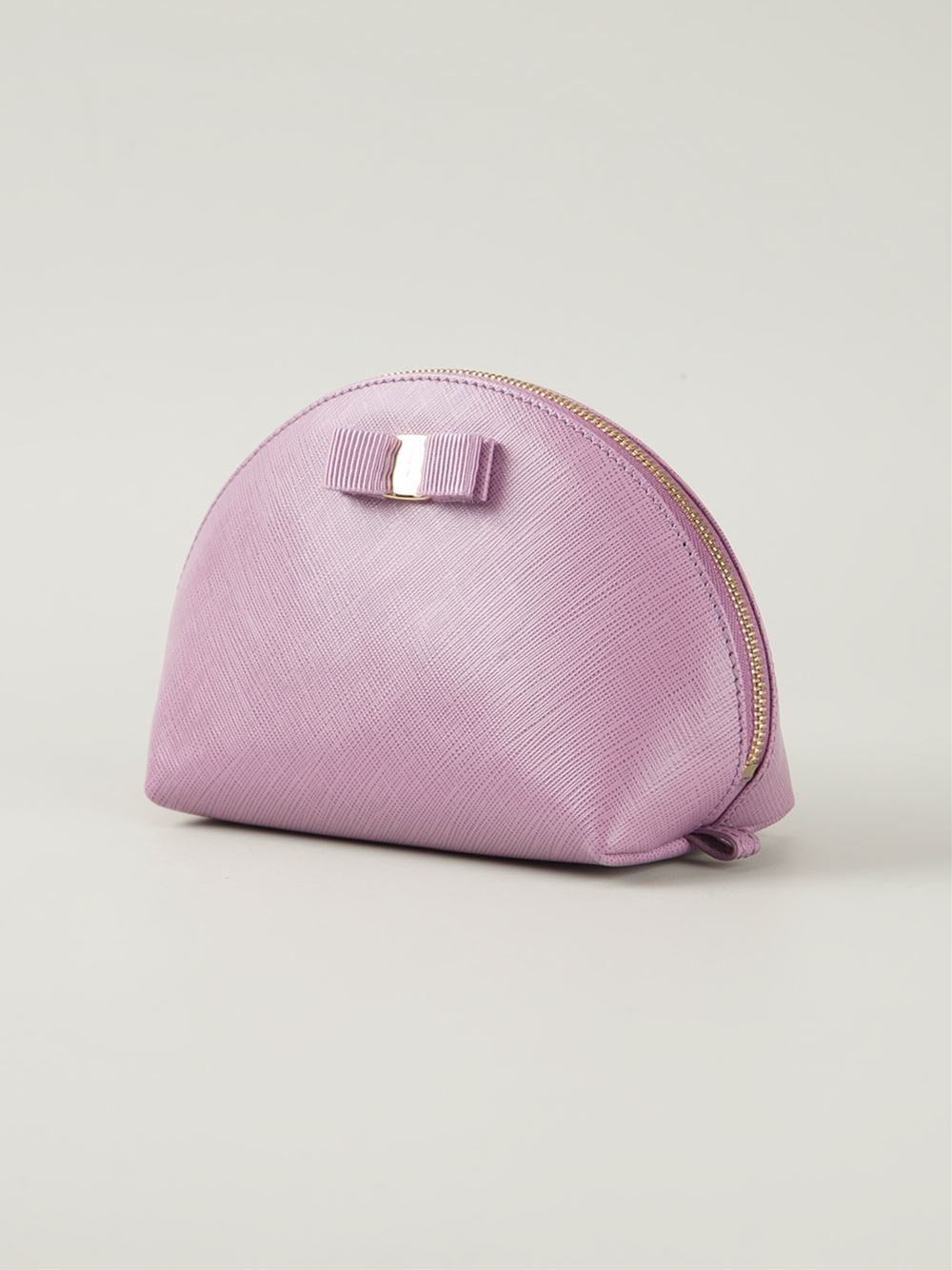 2861e5364c Lyst - Ferragamo  Vara  Bow Makeup Case in Pink
