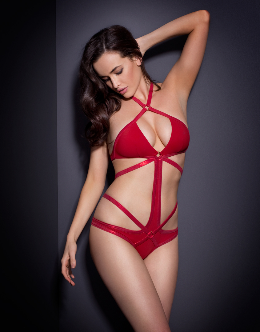 Lyst - Agent Provocateur Shelby Swimsuit Red in Red 0a5e5c72e
