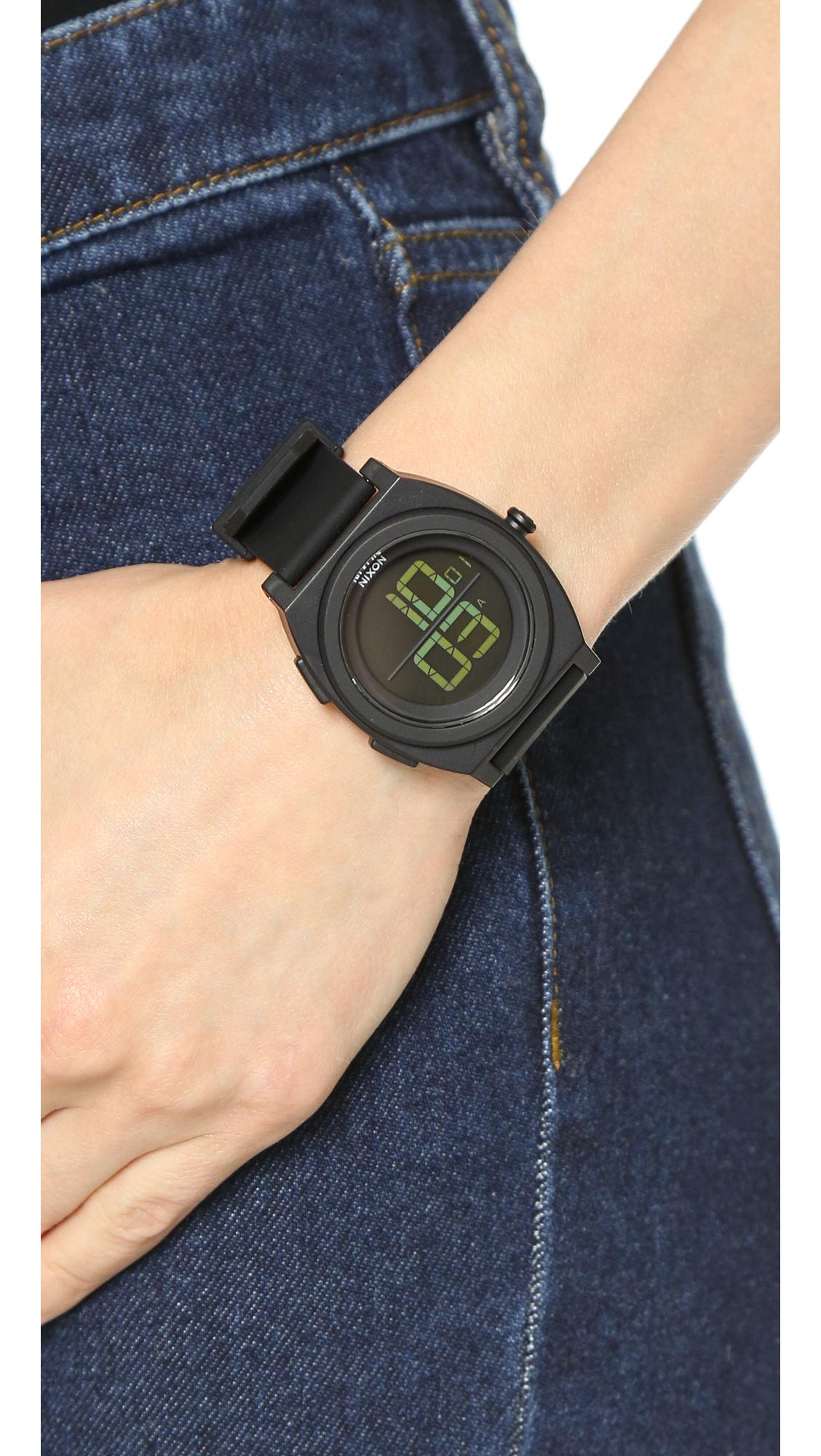 82df0c5b999 Lyst - Nixon Time Teller Digi Watch - All Black in Black