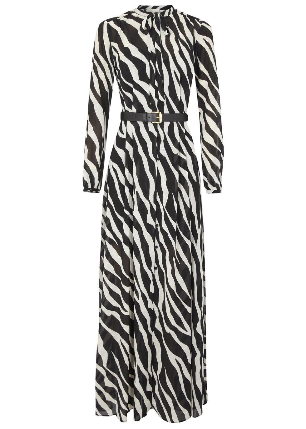 2019 year lifestyle- Print zebra maxi dresses