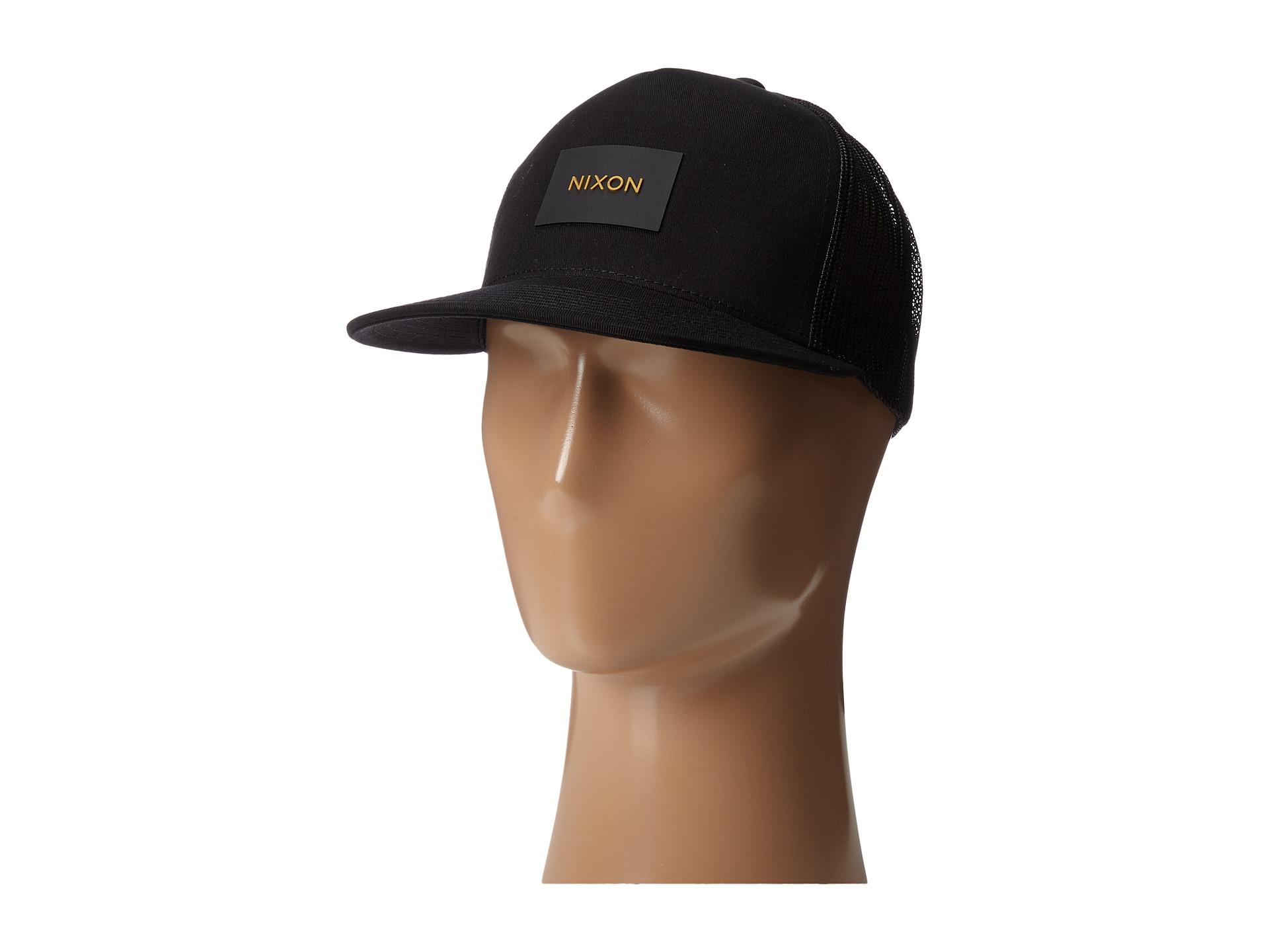 40d03c6c23a Lyst - Nixon Team Trucker Hat in Black