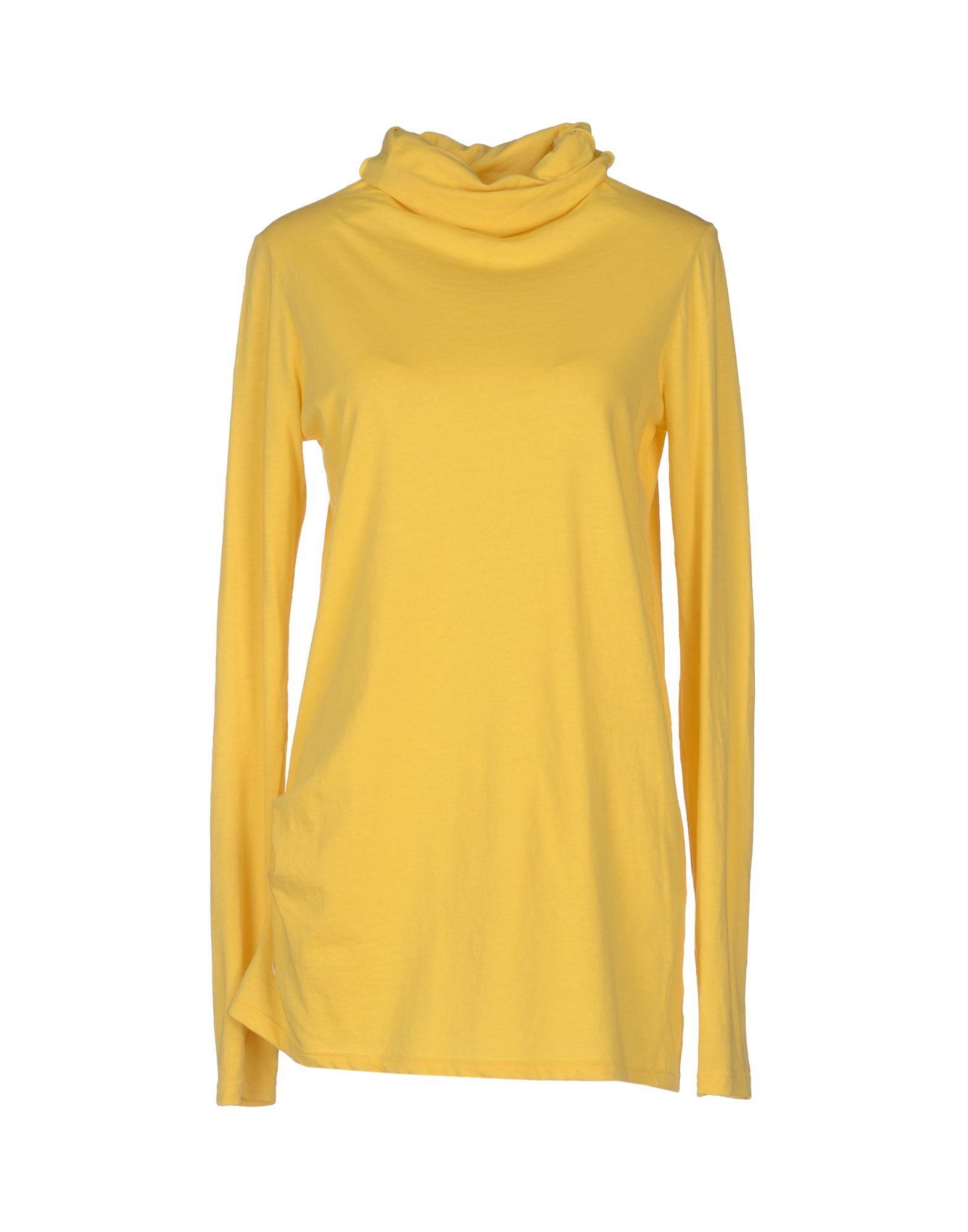 Manila Grace Long Sleeve Tshirt In Yellow Lyst