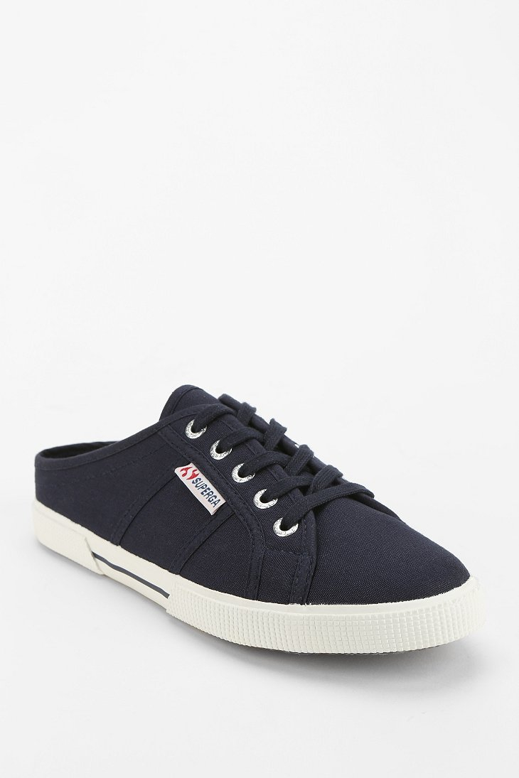Superga Mule Sneaker in Blue | Lyst
